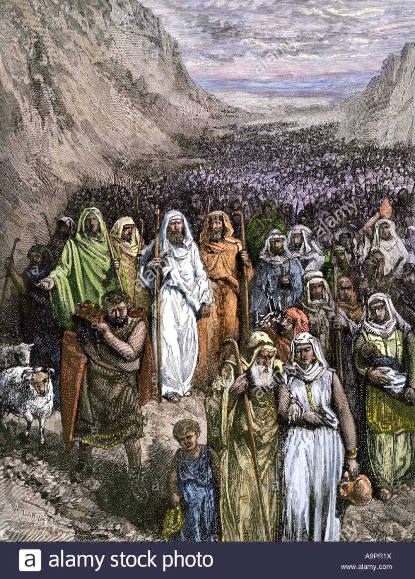 moses-leading-the-israelites-out-of-egypt-through-the-wilderness-A9PR1X